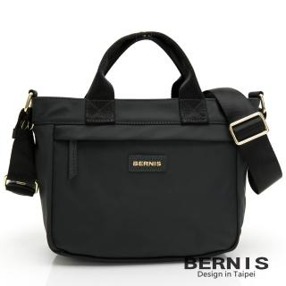 【BERNIS 貝爾尼斯】輕便尼龍 橫式輕巧休閒 手提側背方包-灰色(BNE20113-IG)
