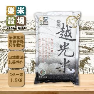 【樂米穀場】花蓮富里契作台灣越光米1.5kgx4(台南16號優質品種)