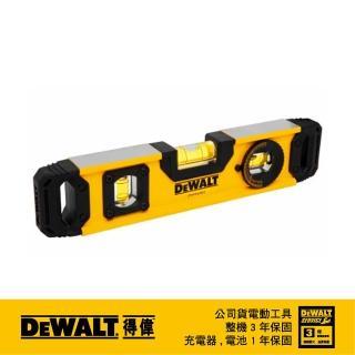 【DEWALT 得偉】9英吋魚雷水平尺(DWHT43003)