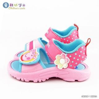 【童鞋城堡】佩佩豬 小花朵造型涼鞋   粉紅豬小妹(PG4515-桃)