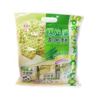 【卡賀】螺旋藻青蔥餅300g(卡賀 蘇打餅 餅乾 休閒食品)