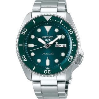 【SEIKO 精工】5 Sports 系列綠面機械錶x42.5mm(4R36-07G0M /SRPD61K1)