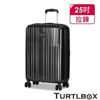 【TURTLBOX 特托堡斯】25吋 行李箱 輕量 雙層防盜拉鍊 雙排輪 旅行箱 NK8(多色任選)