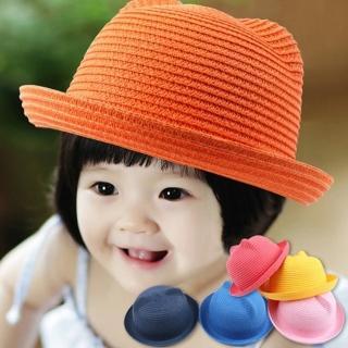 【PS Mall】快速到貨-寶寶兒童遮陽帽 卡通貓咪草帽子(B001)
