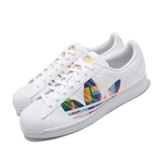 【adidas 愛迪達】休閒鞋 Superstar Pride 男鞋 愛迪達 三葉草 彩虹驕傲 金標 白 彩(FY9022)