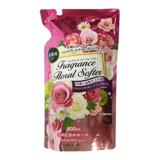 日本 Fragrance Floral Softer衣物 柔軟精 補充包 熱帶玫瑰香 400ml