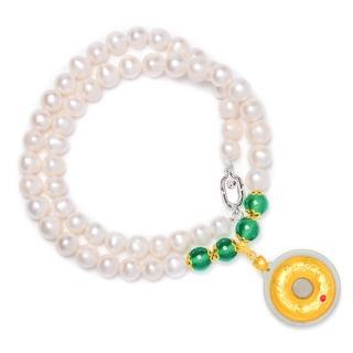 【RJ New York】925銀富貴一生天然珍珠綠玉髓瑪瑙水晶項鍊手鍊耳環(圖片色)