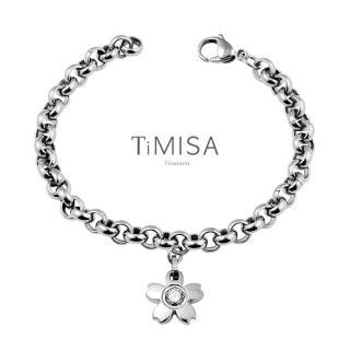 【TiMISA】櫻花之戀 純鈦手鍊M(透亮白)