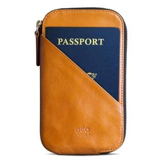 【alto 奧沰】皮革手機收納包 / 護照包 - 焦糖棕(手機保護套 手拿包)