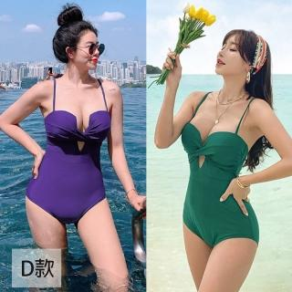 【AS 梨卡】泳衣 泳裝 比基尼 兩件式 連身 六款多色任選泳裝