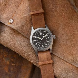 【HAMILTON 漢米爾頓】卡其野戰手動上鍊機械錶-38mm(H69439531)