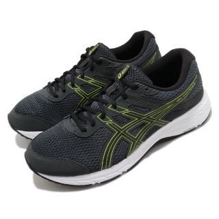 【asics 亞瑟士】慢跑鞋 Gel-Contend 6 超寬楦 男鞋 亞瑟士 路跑 耐磨 緩衝 亞瑟膠 黑 黃(1011A666022)