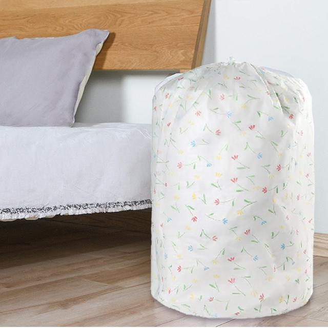 【E.City】買2送2-PEVA圓形束口搬家袋衣物棉被袋收納袋(共4入)/