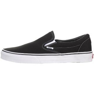 【VANS】CLASSIC SLIP-ON 黑白 經典款 懶人鞋 男女鞋 低筒(VN000EYEBLK)