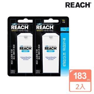 【REACH麗奇】買1送1 潔牙線含蠟無味家庭號(183M)