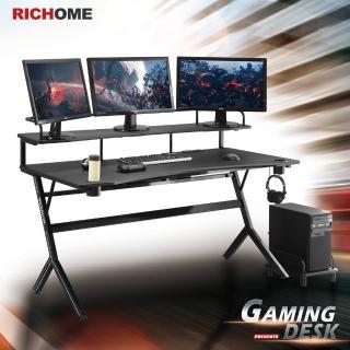 【RICHOME】WARRIOR旗艦款150CM電競桌/電腦桌/書桌/工作桌(2色)