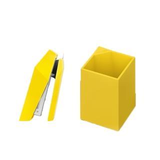 【urban prefer】EDGY釘書機+REFINING淬煉筆筒 組合(180度開啟/10號針/小巧好收納)