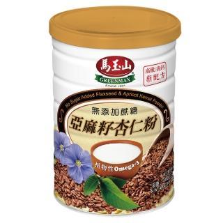 【馬玉山】無加糖亞麻籽杏仁粉400gx1罐