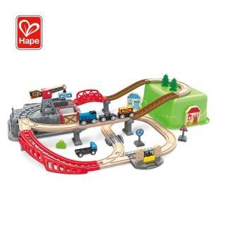 【Hape 愛傑卡】建築家木製軌道玩具(附收納箱92件組)