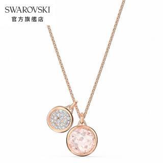 【SWAROVSKI 施華洛世奇】Tahlia 玫金色典雅粉紅水晶項鍊