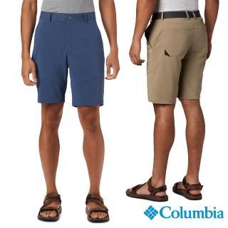 【Columbia 哥倫比亞】男款- 防潑 防曬50短褲-墨藍(UAE012910 / 戶外.防曬.運動)