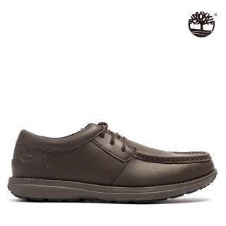 【Timberland】男款深棕色皮革休閒鞋(A24Z6200)