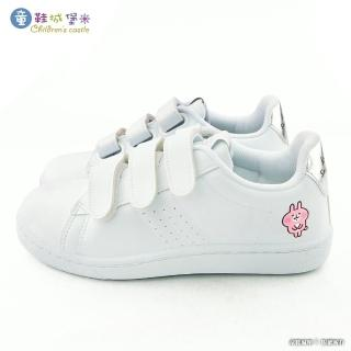 【童鞋城堡】粉紅兔兔 簡約質感休閒鞋 卡娜赫拉(KI8365-白)