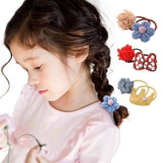 【JoyNa】羊羔球小皮筋髮圈兒童髮飾寶寶髮帶(5組入)