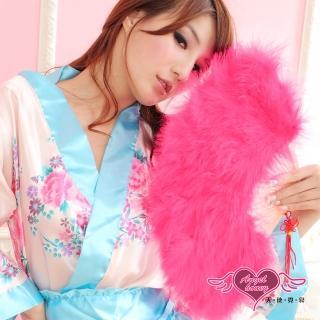【AngelHoney天使霓裳】旗袍專用羽毛扇 角色扮演(亮粉F)