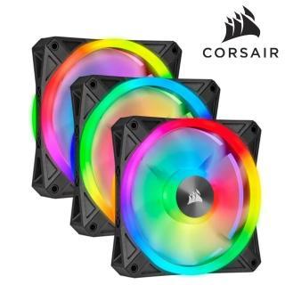 【CORSAIR 海盜船】iCUE QL120 RGB 風扇 x3+控制器