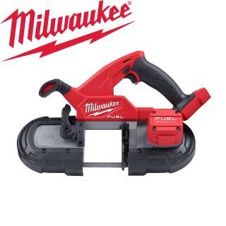 雙11限定【Milwaukee 美沃奇】18V鋰電無碳刷輕型帶鋸機-空機-不含電池及充電器(M18FBS85-0C0)