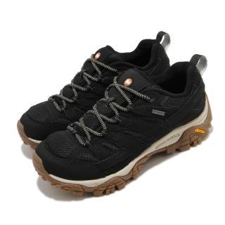 【MERRELL】戶外鞋 Moab 2 GTX 女鞋 登山 越野 防潑水 避震氣墊 耐磨大底 黑 棕(ML035512)