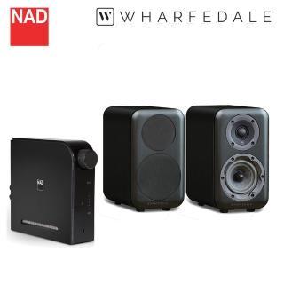 【NAD & WHARFEDALE】兩聲道音響組(D3020V2+D320)