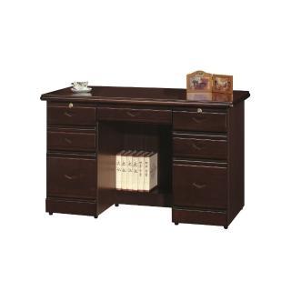 【MUNA 家居】胡桃色4.2尺辦公桌(辦公桌)