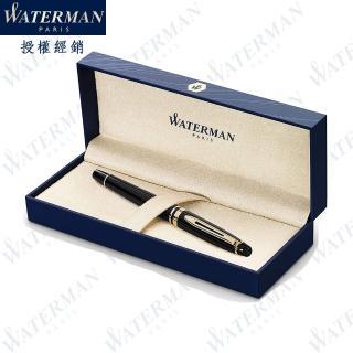 【WATERMAN】新版 權威系列 麗雅黑金夾 鋼珠筆 法國製造(EXPERT系列)