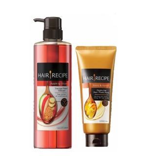 【Hair Recipe】超值2件洗護限量組-營養洗髮精+蜂蜜髮膜組(蘋果生薑/奇異果清爽/蜂蜜保濕洗髮精任選)