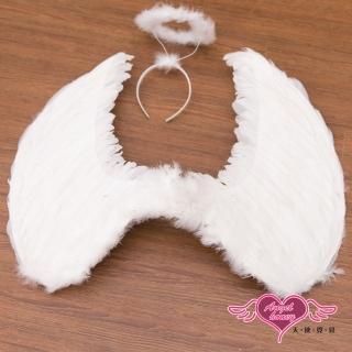 【AngelHoney天使霓裳】天使翅膀+光圈 大尺寸角色扮演道具配件(白F)