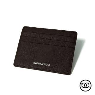 【Premium Authentic】簡約真皮名片卡-栗色(頭層牛皮)