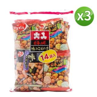 【中元拜拜】天六14袋綜合豆果子餅乾3包組(341g/包)