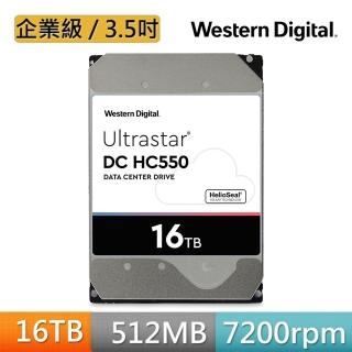 【WD 威騰】Ultrastar DC HC550 16TB 3.5吋 企業級硬碟(WUH721816ALE6L4)