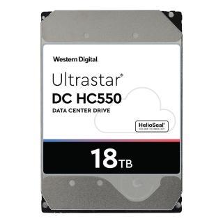 【WD 威騰】Ultrastar DC HC550 18TB 3.5吋 企業級硬碟(WUH721818ALE6L4)