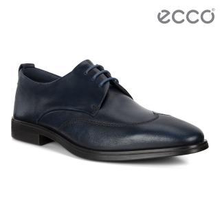 【ecco】MELBOURNE 氣質型男商務正裝德比鞋 男鞋(海軍藍 62178401048)