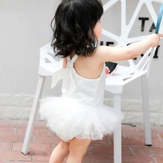 【AS 梨卡】女童 泳衣 泳裝 連身泳衣 裙式 游泳衣 翅膀 連身泳裝 兒童泳裝CH646