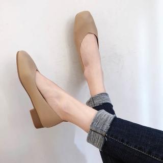 【LN】現貨 經典款方頭低跟包鞋(包鞋/娃娃鞋/平底鞋/淑女鞋/上班鞋/腳寬建議大一碼)