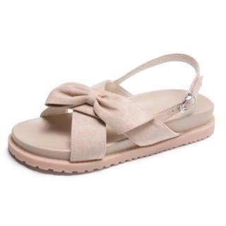 【LN】現貨 蝴蝶結交叉微厚平底涼鞋(平底鞋/涼鞋)