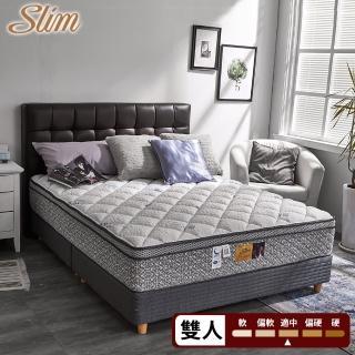 【SLIM抗菌舒眠型】日本銀纖維記憶膠乳膠透氣獨立筒床墊(雙人5尺)