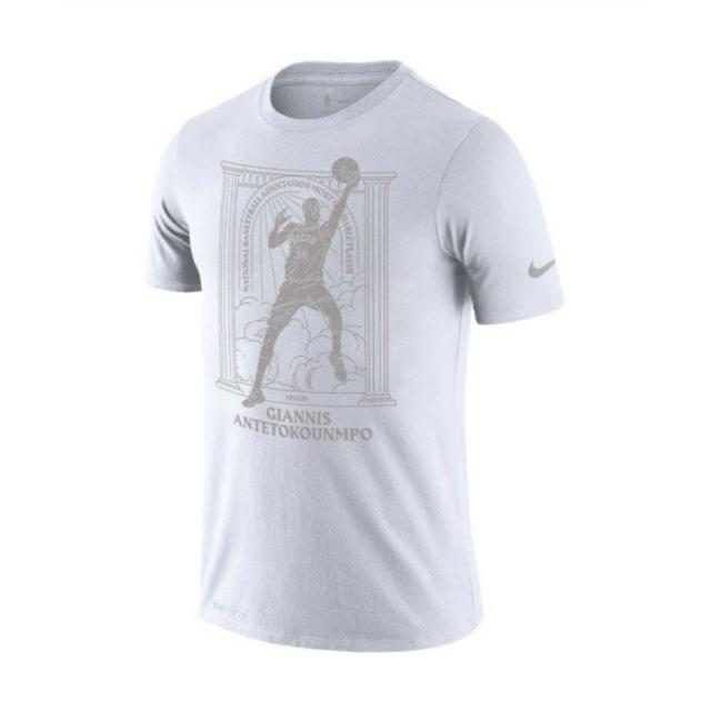 【NIKE 耐吉】AS NBA M NK DRY TEE MVP2 PLR G 男 短袖上衣 白(CT4015100)