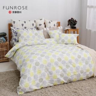 【京都西川】100%純棉 四件式薄被套平單床單組 朵朵小花(雙人8X9)