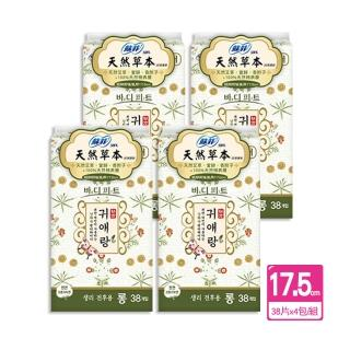 【Sofy 蘇菲】蘇菲天然草本護墊(17.5cm38片X4包/組)