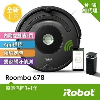 【iRobot】美國iRobot Roomba 678 wifi+虛擬牆 掃地機器人(2020年全新上市石墨灰)